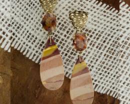 Karla Proud designed Oregon Sunstone Earrings with Jasper (S1800KPE)