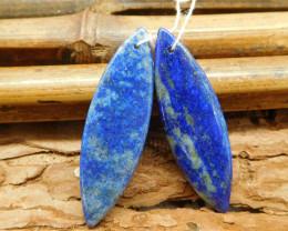 Lapis lazuli marquise gemstone natural loose beads (G1848)