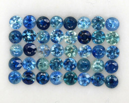 4.02 ct 2.7 MM DIAMOND CUT MULTI COLOR SAPPHIRE NATURAL GEMSTONE  40PCS