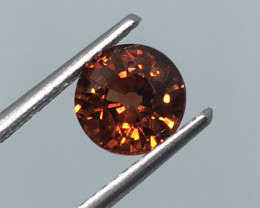 2.14 Carat VVS Zircon Cinnamon Red Flash Unheated Tanzania Rare!