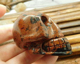 Mahogany obsidian gemstone carving natural decoration (S002)