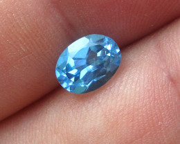 1.94cts Natural Swiss Blue Topaz Oval Cut