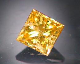 Diamond 0.21Ct  Natural Princess Cut Fancy Color Diamond 31CF11