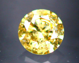 Diamond 0.15Ct Natural Brilliant Round Cut Fancy Color Diamond 31CF16