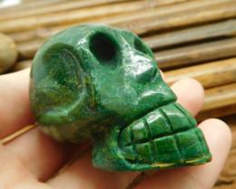African jade gemstone carving skull (S009)
