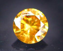 Diamond 0.20Ct Natural Brilliant Round Cut Fancy Color Diamond 31CF35