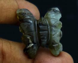 Genuine 40.00 Cts Golden Flash Labradorite Butterfly