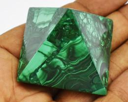 Genuine 265.00 Cts Green Malachite Healing Pyramid
