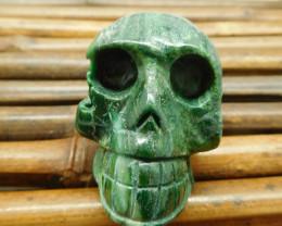 African jade gemstone carving home decoration skull (S020)