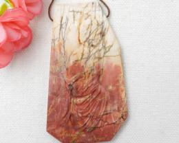 153cts Amazing Great Craft Abstract Pendant Bead ,Multi Color Jasper Pendan