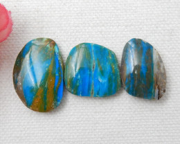 3pcs High Quality Blue Opal Gemstone Cabochons Designer Making E384