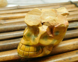 Ocean jasper gemstone decoration carving skull (S029)