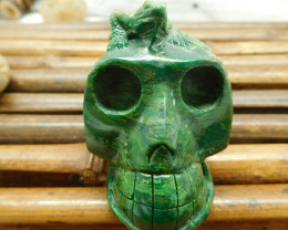 African jade carving skull decoration (S042)
