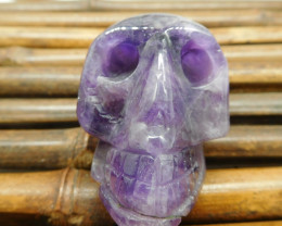 Stone carving amethyst carved skull (S043)