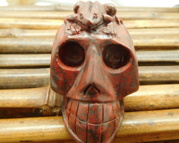 Agate carved skull decoration skull jewelry (S046)