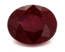 0.42 Carat Oval Ruby: Rich Darkish Red