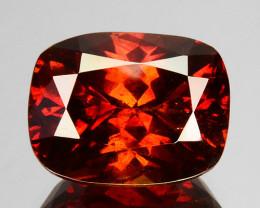 8.13 Cts Natural Fire Sunset Red Sphalerite Cushion Cut Spain Gem