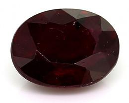 0.40 Carat Oval Ruby: Deep Darkish Red