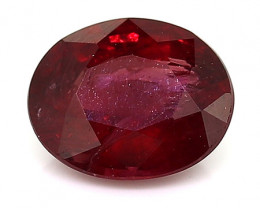 RARE - 0.47 Carat Oval Ruby: Red