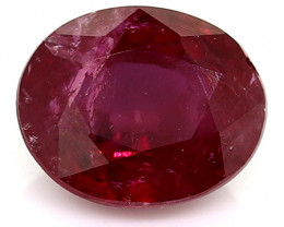 0.49 Carat Oval Ruby: Red