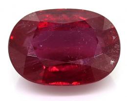 3.69 Carat Oval Ruby: Fine Purple Red