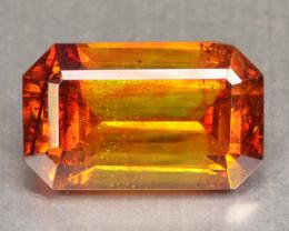 7.63 Cts Natural Fire Sunset Orange Sphalerite Octagon Cut Spain Gem