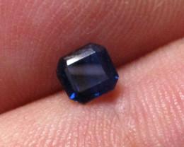 0.51cts Natural Australian Blue Sapphire Square Emerald Cut