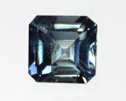 0.23cts Natural Australian Blue Sapphire Square Emerald Cut