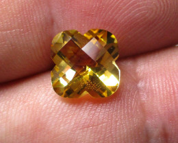 2.83cts Golden Yellow Citrine Flower Checker Board Shape
