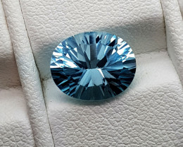 3.35Crt Concave Blue Topaz Natural Gemstones JI53