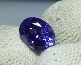 NO HEAT 1.49 CTS CERTIFIED NATURAL STUNNING VIOLET SAPPHIRE SRI LANKA