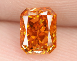 0.55 Carat Untreated Natural Fancy Vivid Orange Color Gemstone VS1