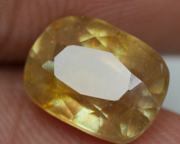 3.35 crt TRANSLUCENT YELLOW SAPPHIRE FACETED-