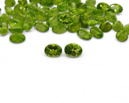 2 Stones - 2.86 ct Peridot 9x7mm Oval- $1 No Reserve Auction