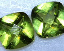 3 CTS GREEN PERIDOT FACETED PAIR  CG-2759