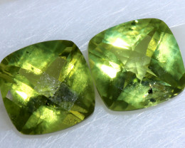 2.80 CTS GREEN PERIDOT FACETED PAIR  CG-2760