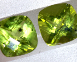 3.40 CTS GREEN PERIDOT FACETED PAIR   CG-2761