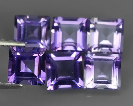 8.70 CTS NOBLE SQUARE CUT PURPLE AMETHYST WONDERFUL