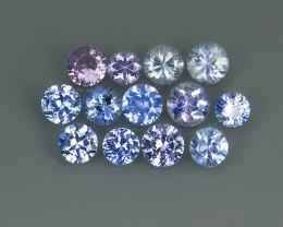1.60 Cts Natural Intense Beautiful blue Sapphire round Shape Parcel!!!