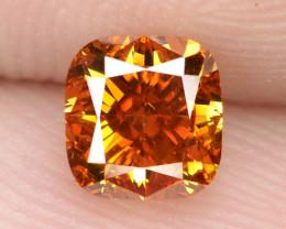 0.67 cts untreated fancy vivid orange natural loose diamond