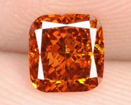 0.61 Cts untreated Fancy Vivid Orange Natural Loose Diamond
