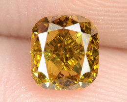 0.76 Cts Untreated Fancy Vivid Green Natural Loose Diamond