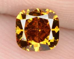 0.56 Cts Untreated Fancy Vivid Orange Natural Loose Diamond