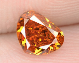 0.57 Cts Untreated Fancy Vivid Orange Natural Loose Diamond