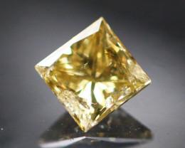 Diamond 0.37Ct Natural Princess Cut Fancy Color Diamond 01CF27