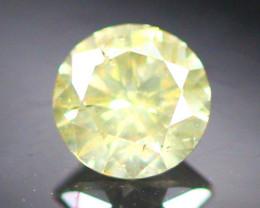 Diamond 0.21Ct Natural Brilliant Round Cut Fancy Color Diamond 01CF28