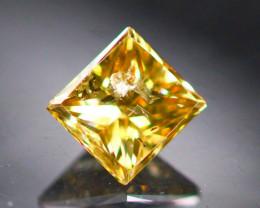 Diamond 0.25Ct Natural Princess Cut Fancy Color Diamond 01CF39