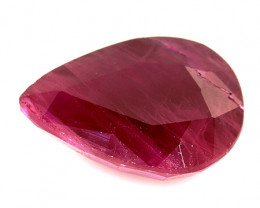 RARE - 1.35 Carat Pear Shape Ruby: Pinkish Red