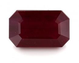 1.26 Carat Emerald Cut Ruby: Deep Rich Red