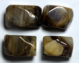 PETRIFIED WOOD BEADS (4PC) 85.60CTS NP-843